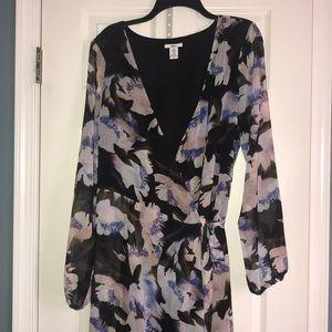 Floral long sleeve dress